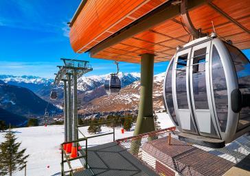 Baqueira Beret ski resort cable car Aran Valley